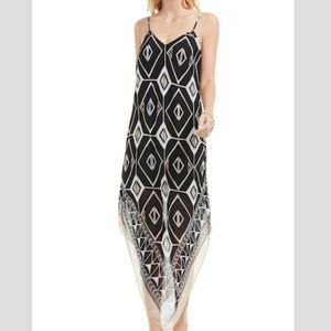 Vince Camuto Graphic Handkerchief Slipdress